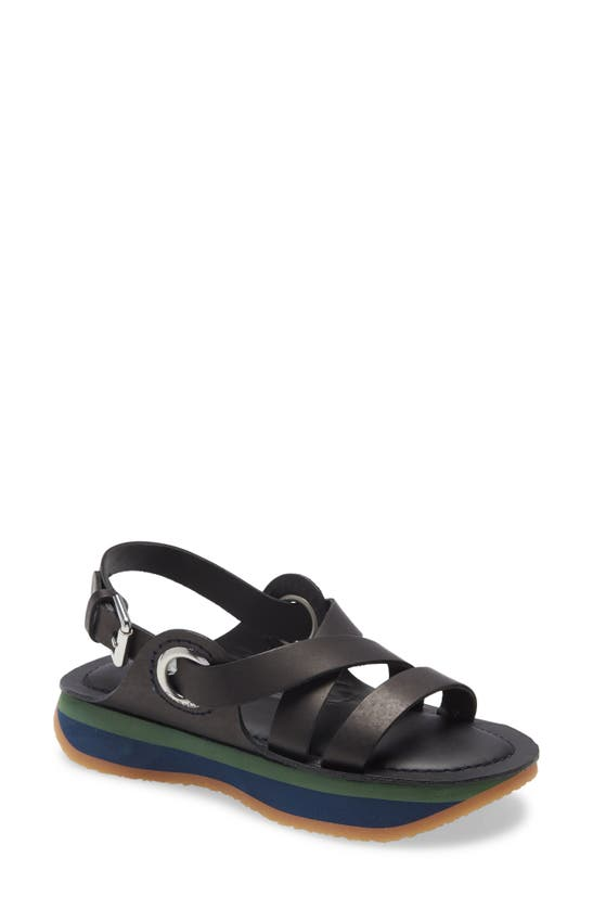 See By Chloé Ysee Crisscross Flatform Sporty Sandals In Black