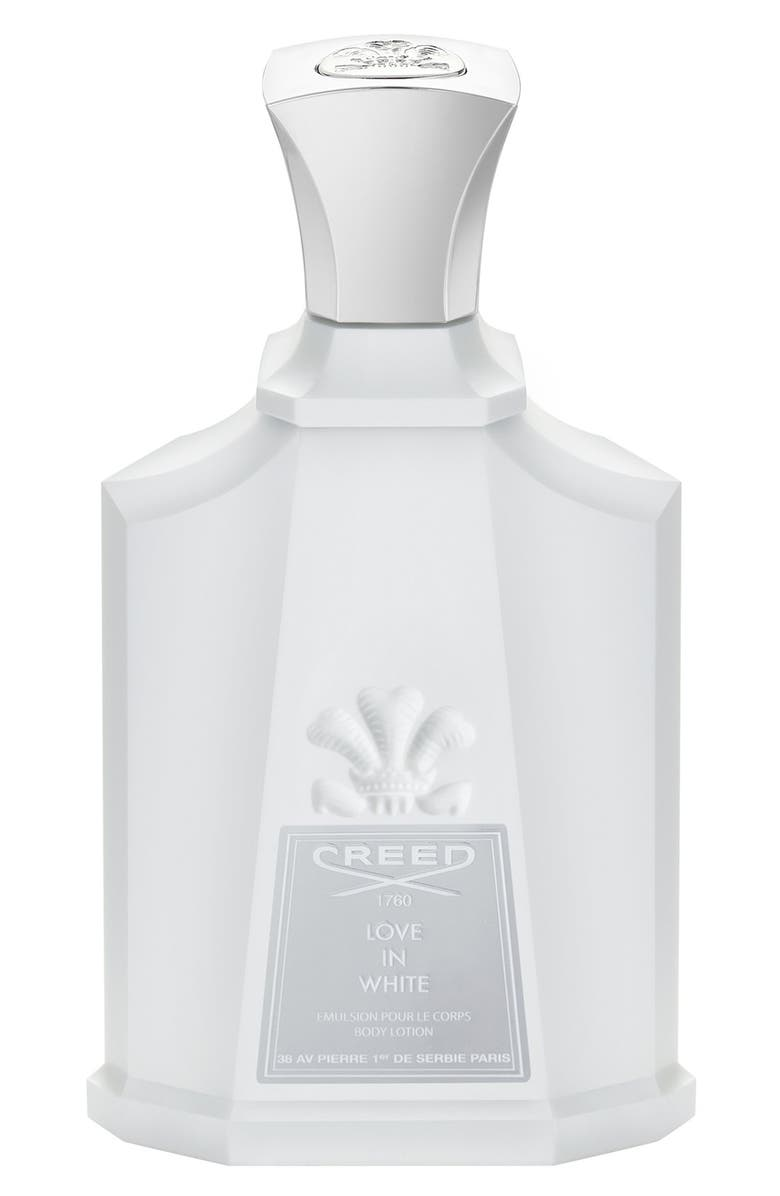 CREED 'Love in White' Body Lotion, Main, color, NO COLOR