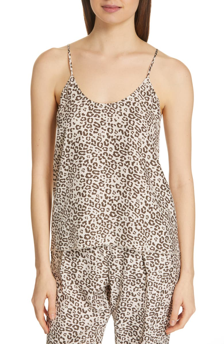 ATM ANTHONY THOMAS MELILLO Lunar Leopard Silk Camisole, Main, color, 200