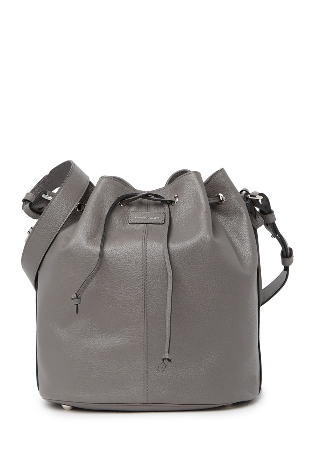 Image of Alexander McQueen Padlock Skull Leather Bucket Bag