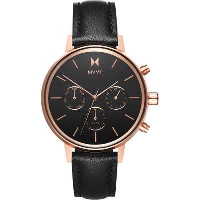 Mvmt Nova Chronograph Leather Strap Watch,