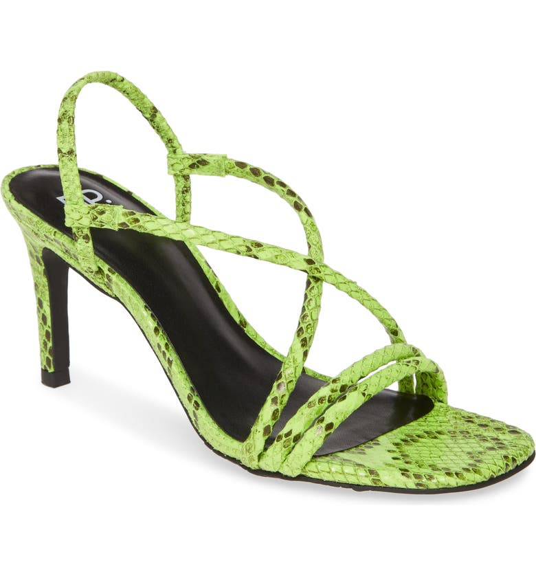 BP. Billy Strappy Sandal, Main, color, NEON SNAKE FAUX LEATHER