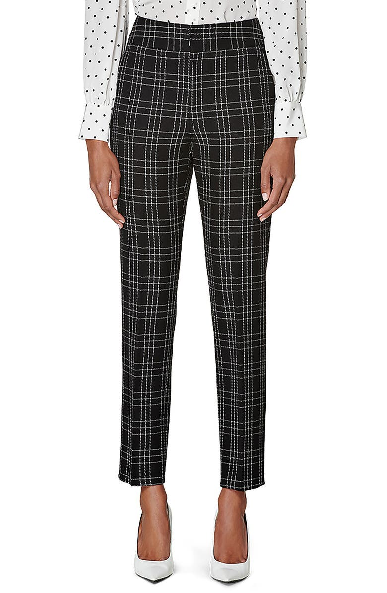 SUISTUDIO Lane Classic Check Wool Trousers, Main, color, BLACK CHECK