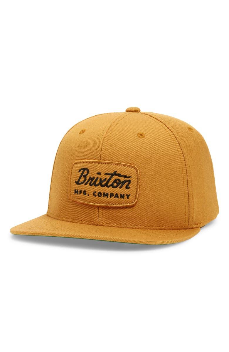 BRIXTON Jolt Snapback Baseball Cap, Main, color, MAIZE