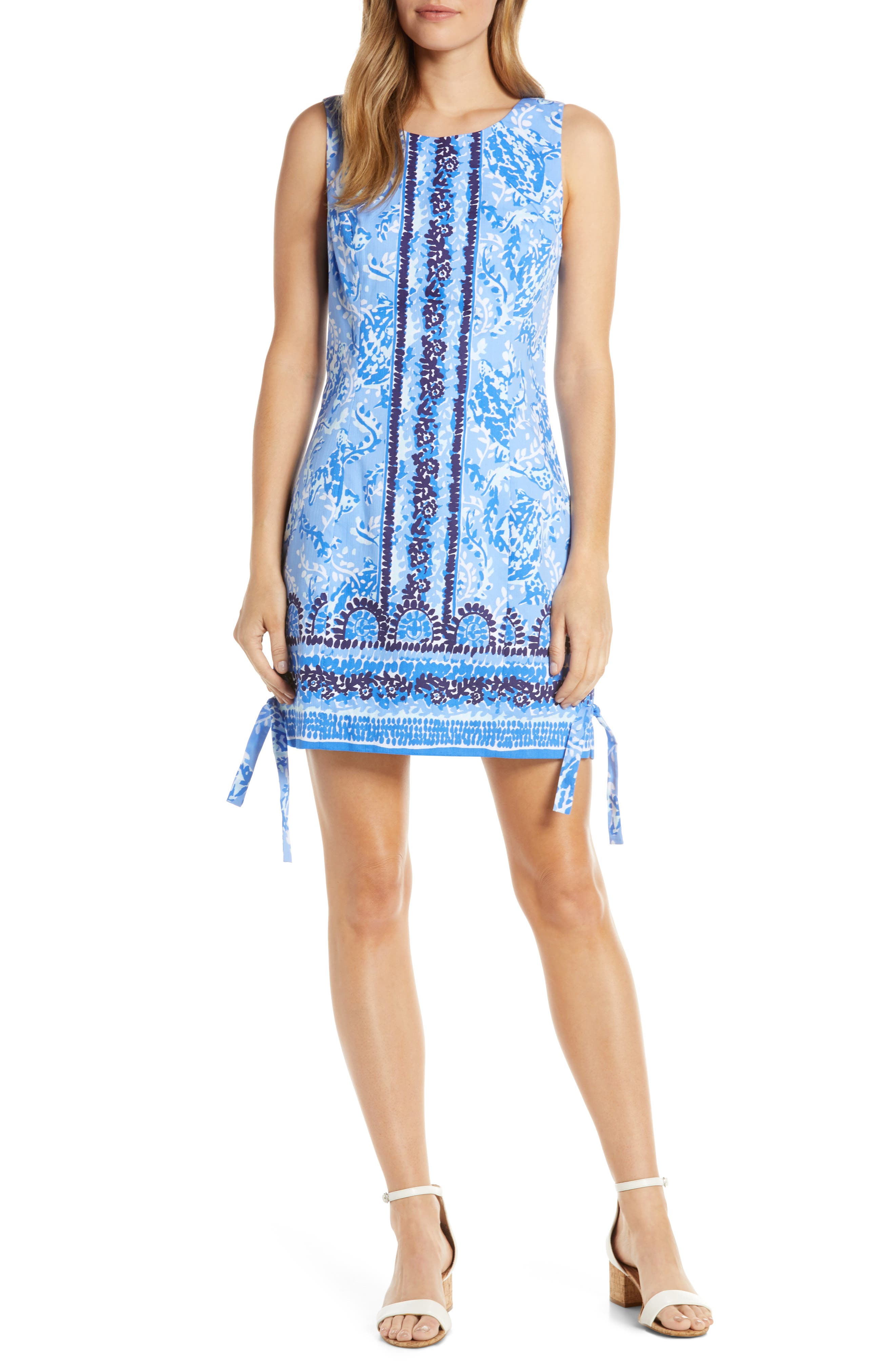 Lilly Pulitzer Mila Stretch Shift Dress, Blue