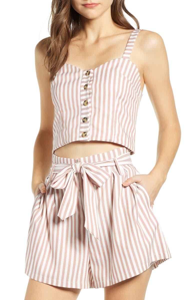 BISHOP + YOUNG Crop Top, Main, color, SIERRA STRIPE