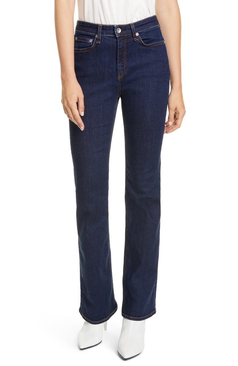 RAG & BONE Nina High Waist Bootcut Jeans, Main, color, MARINE BLUE