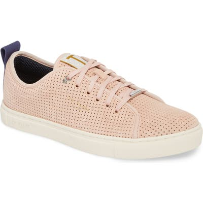 Ted Baker London Kaliix Perforated Low Top Sneaker- Pink