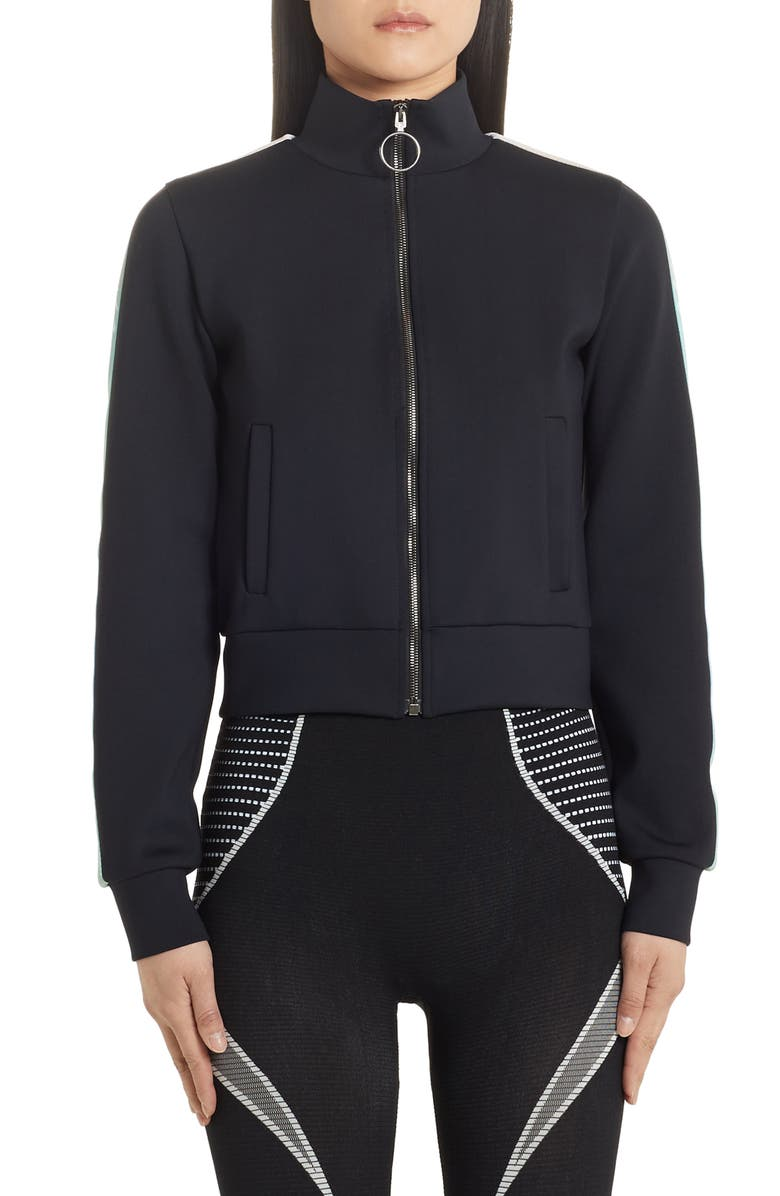 OFF-WHITE Jersey Track Jacket, Main, color, 001
