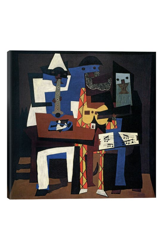 Icanvas Three Musicians By Pablo Picasso Giclee Print Canvas Art In Blue