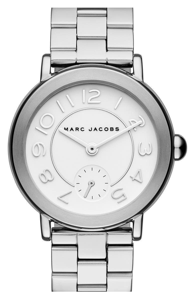 MARC JACOBS 'Riley' Bracelet Watch, 36mm, Main, color, 040