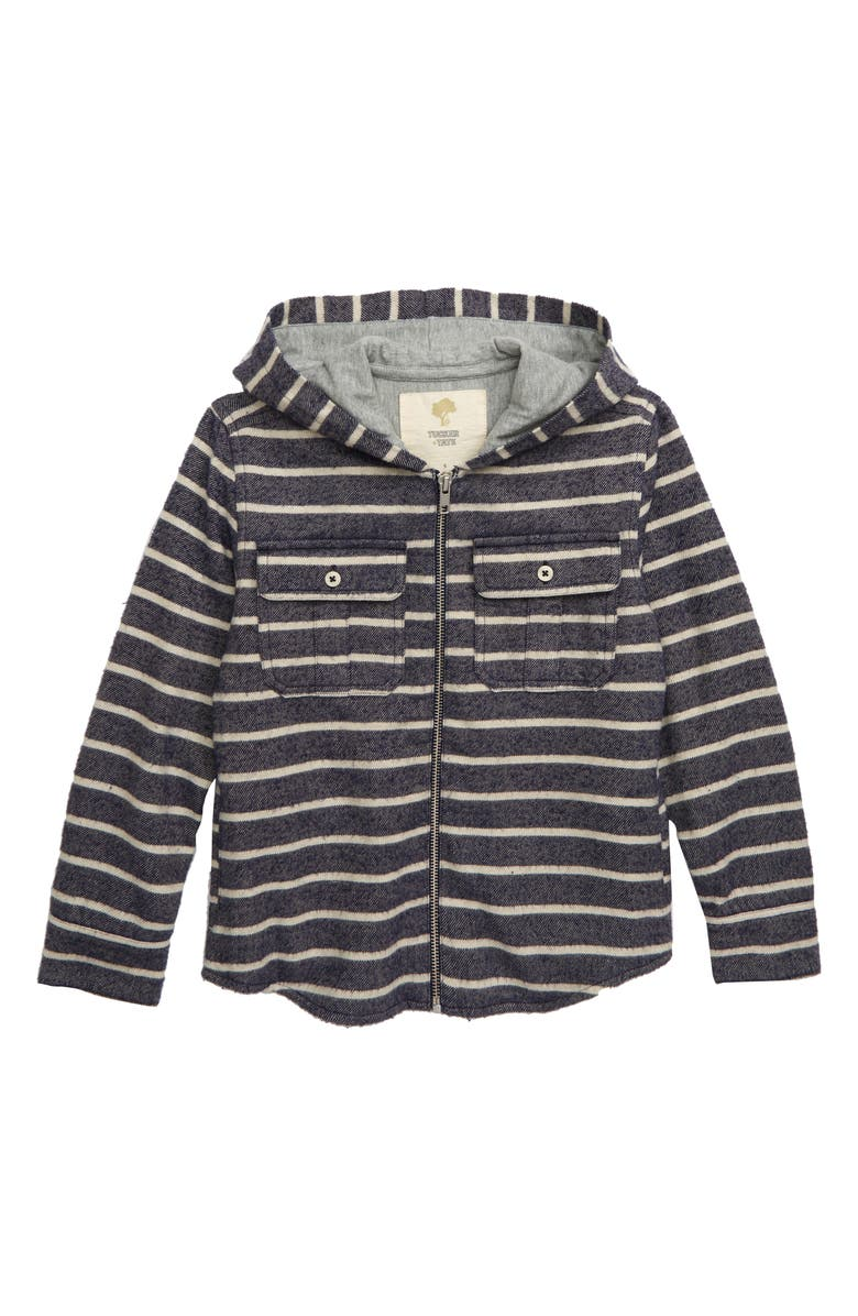 TUCKER + TATE Mountain Pass Stripe Shirt Jacket, Main, color, 410