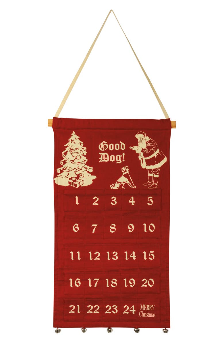 PRIMITIVES BY KATHY Good Dog Hanging Canvas Advent Calendar, Main, color, 600