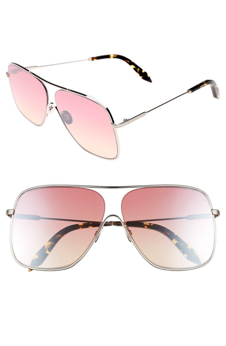 VICTORIA BECKHAM Loop 61mm Navigator Sunglasses, Main, color, LUNA