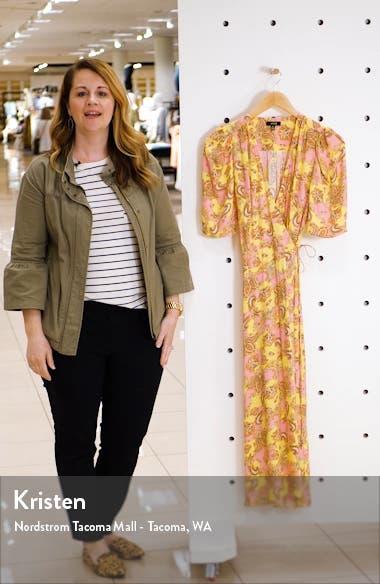 Hughes Midi Wrap Dress, sales video thumbnail