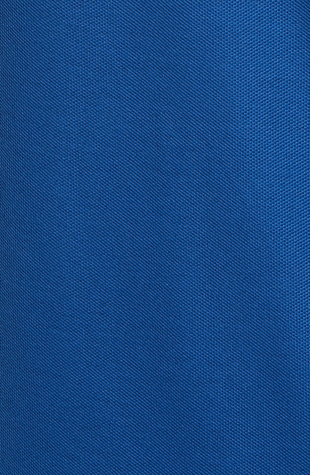 ,                             Regular Fit Piqué Polo,                             Alternate thumbnail 5, color,                             BLUE CASPIA