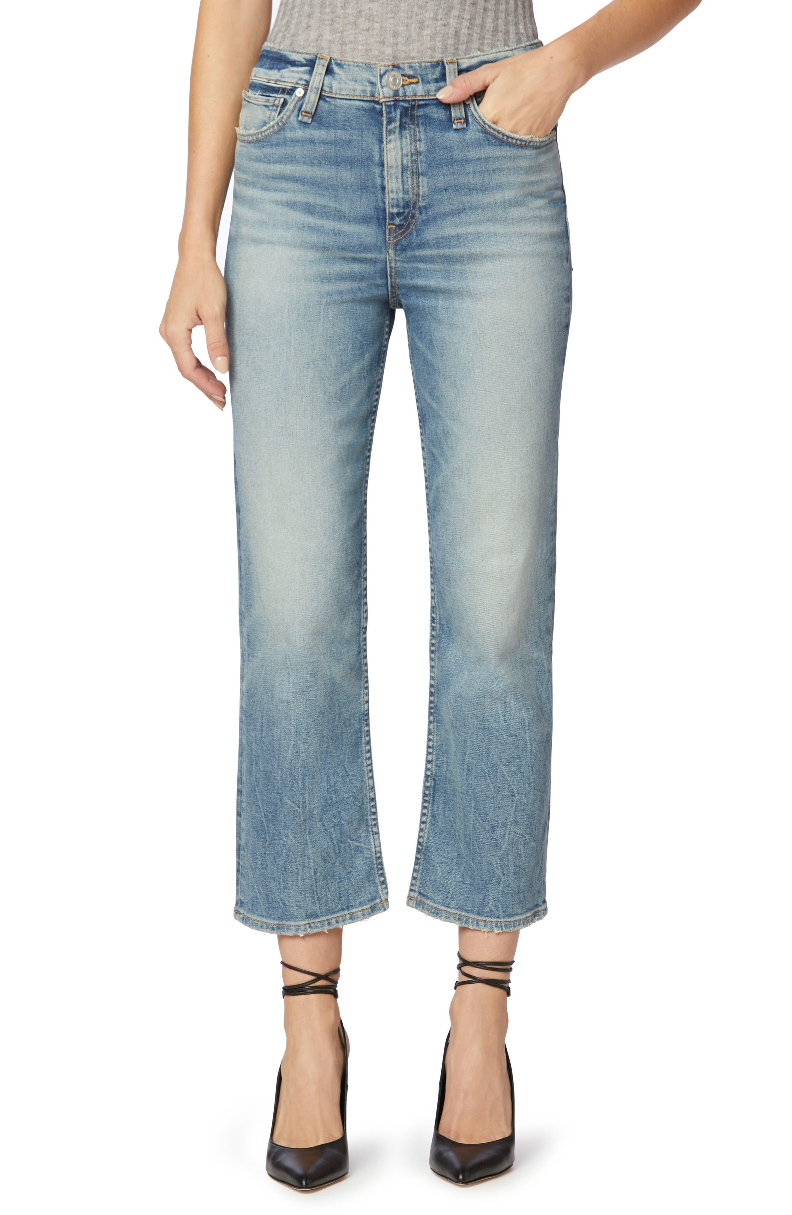 Remi High Waist Ankle Straight Leg Jeans