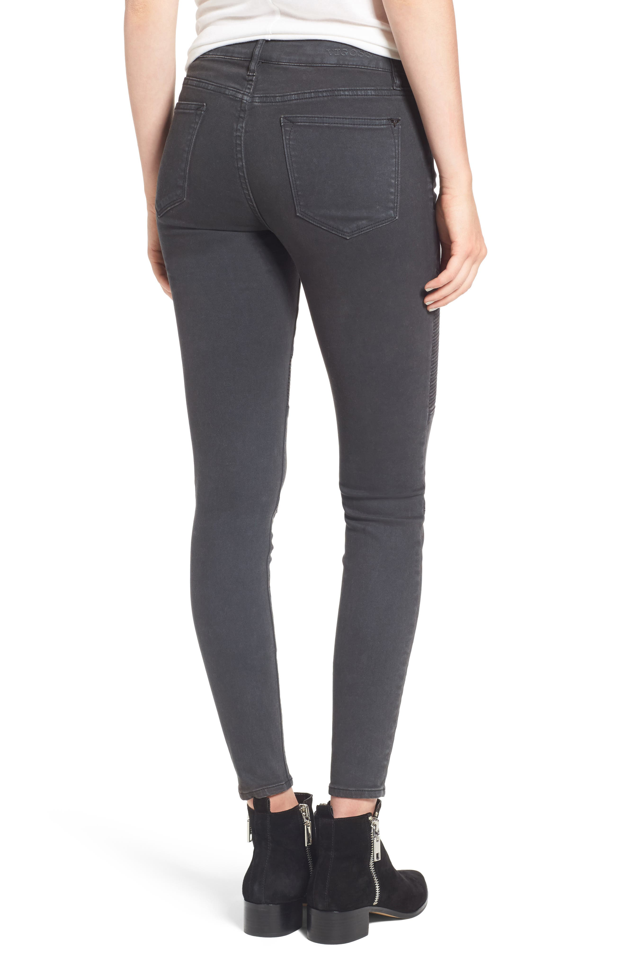 ,                             Moto Skinny Jeans,                             Alternate thumbnail 2, color,                             001