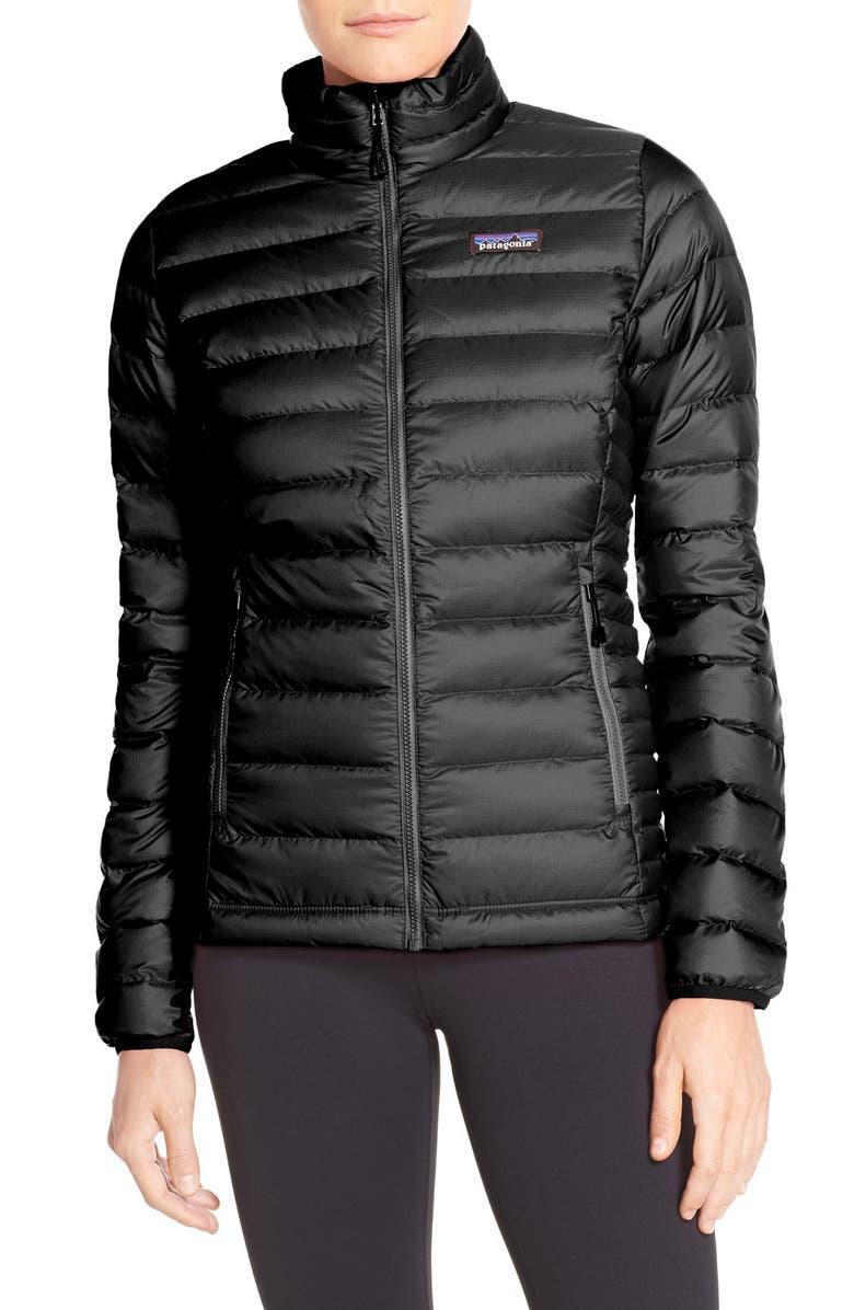 PATAGONIA Down Jacket, Main, color, BLACK