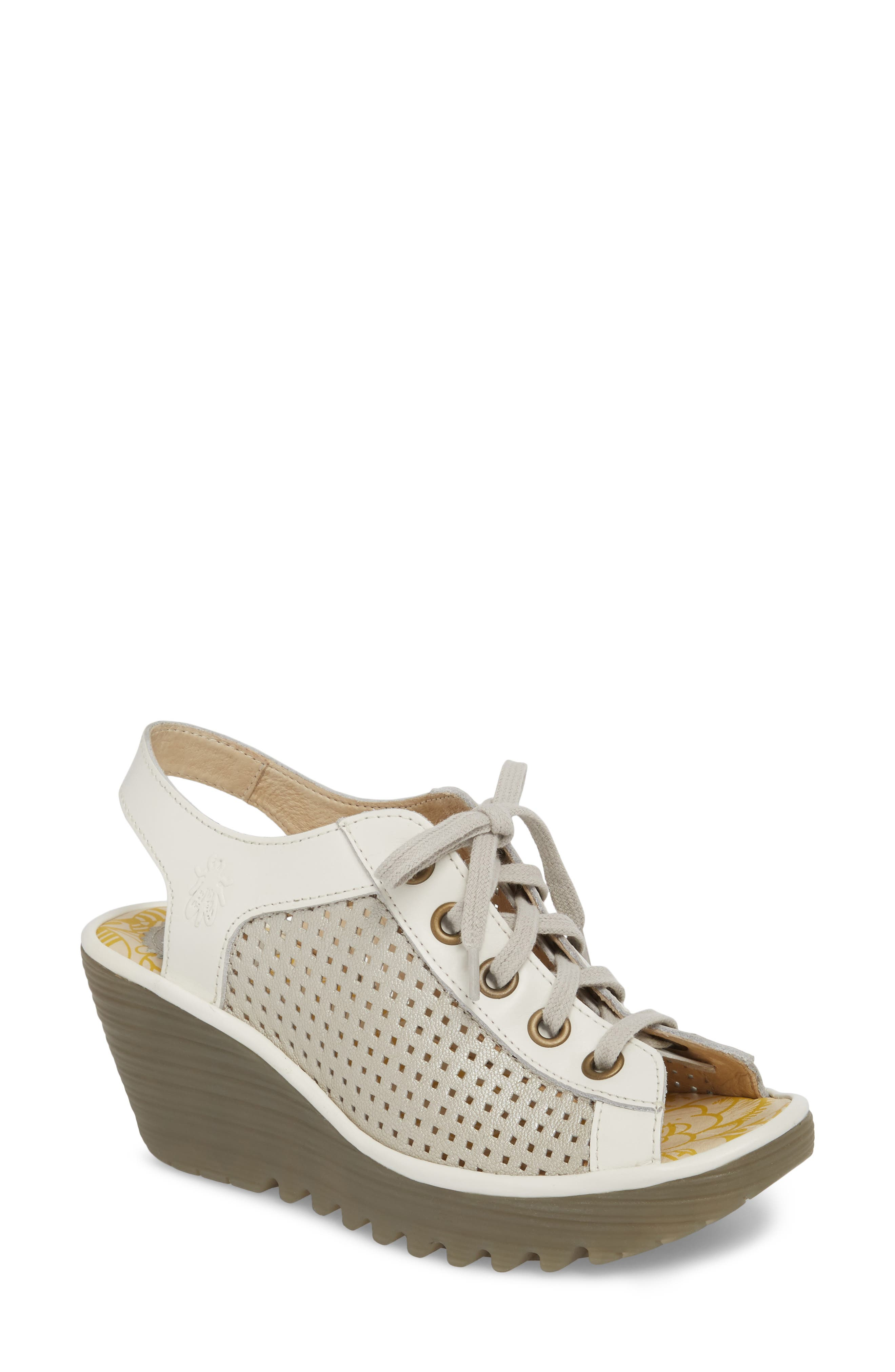 Fly London Yeki Sandal-8 W - Grey