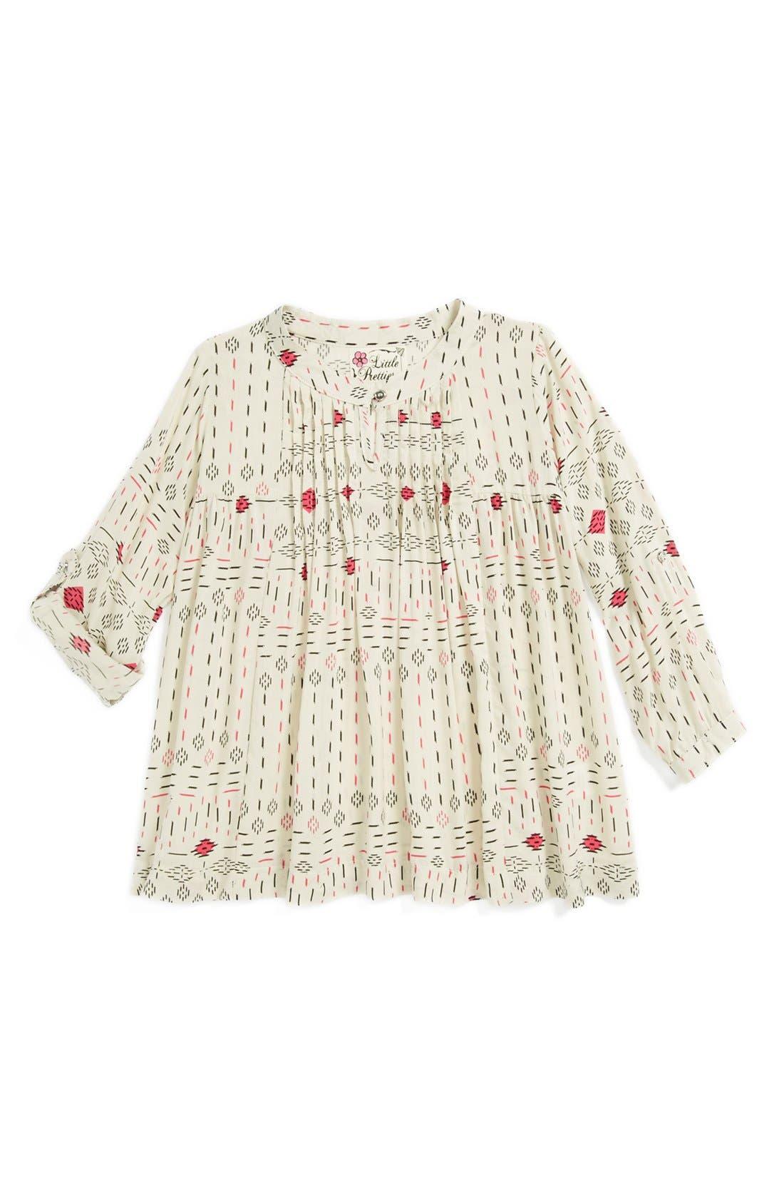 'Ikat' Pleated Dress, Main, color, 250