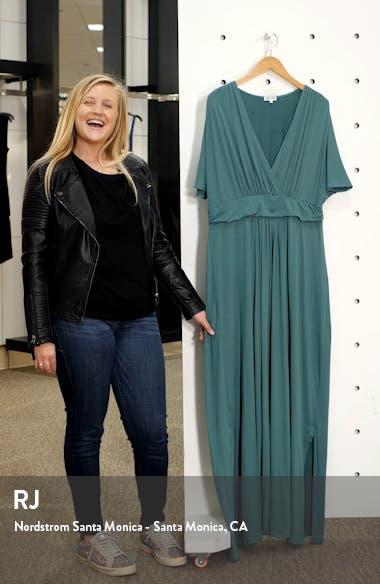 Vienna V-Neck Maxi Dress, sales video thumbnail