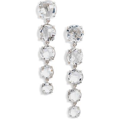 Anzie White Topaz Linear Earrings
