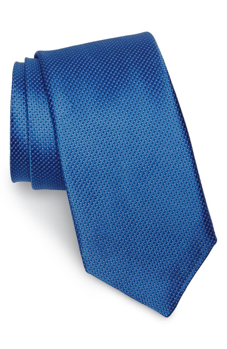 NORDSTROM MEN'S SHOP Vendôme Dot Silk Tie, Main, color, FR.BLUE