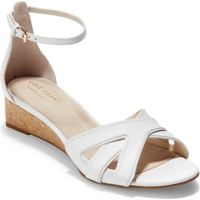 Cole Haan Hana Grand Wedge Sandal B - White