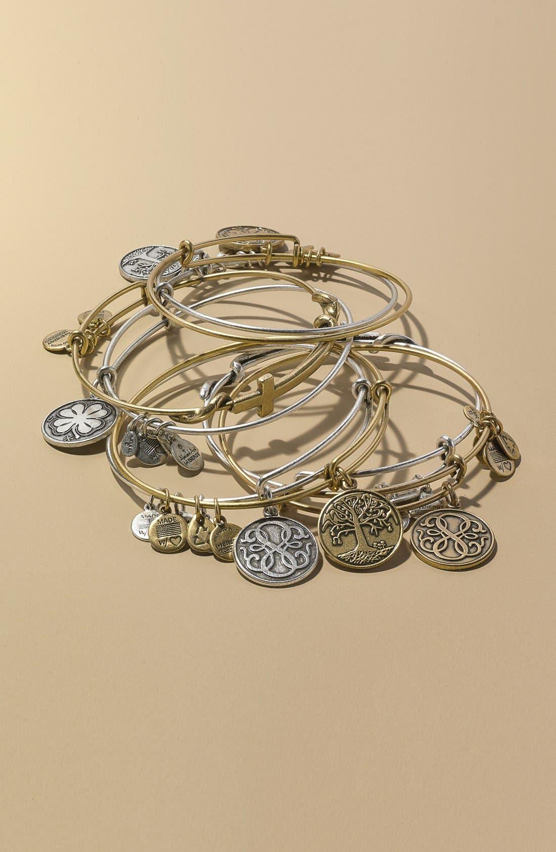 ,                             'Four Leaf Clover' Expandable Wire Bracelet,                             Alternate thumbnail 2, color,                             040