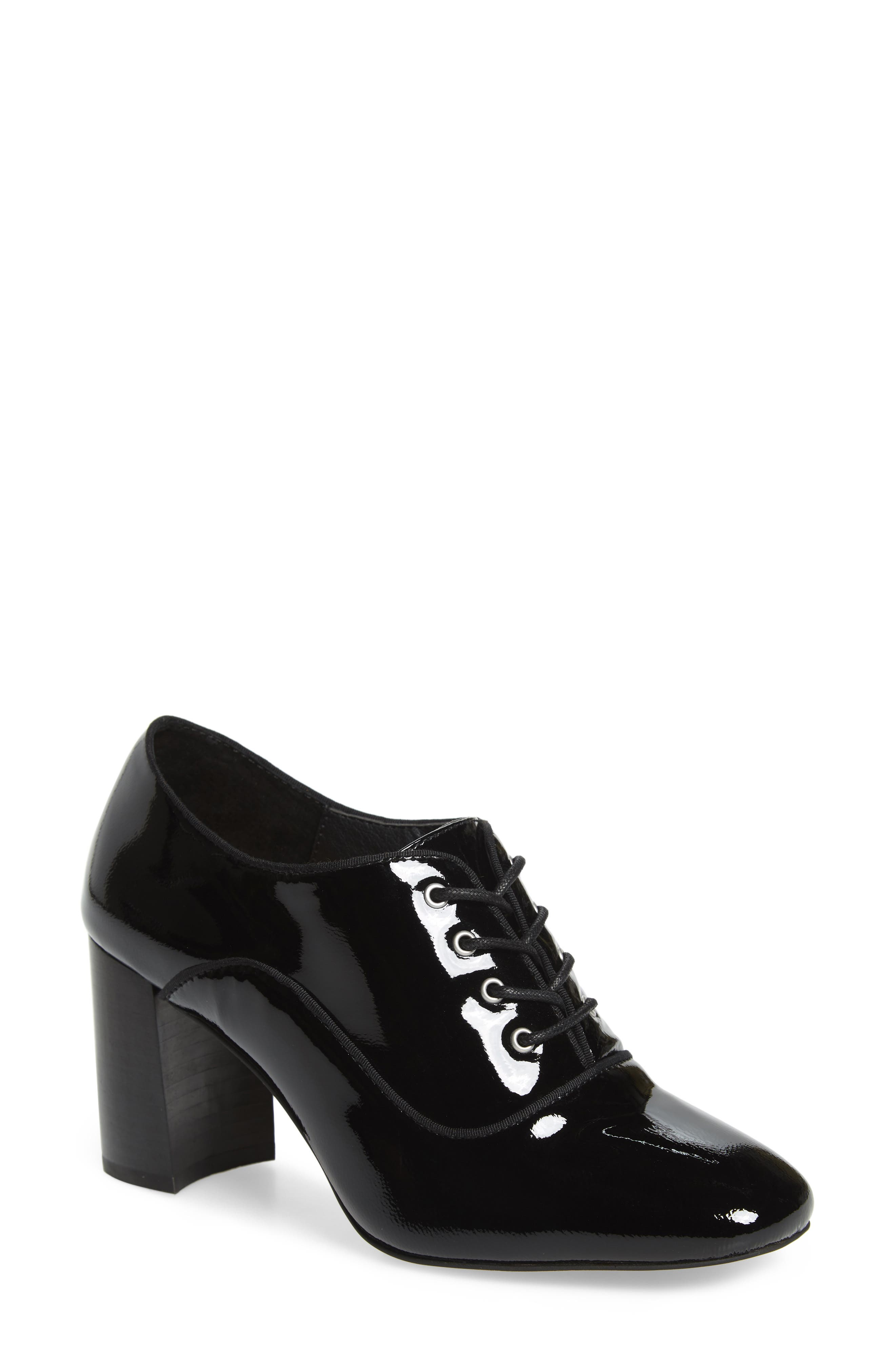 ,                             Envy Oxford Pump,                             Main thumbnail 1, color,                             BLACK FAUX PATENT
