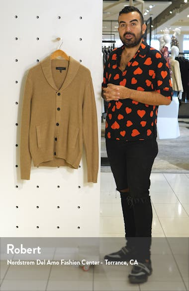 Cardiff Classic Fit Wool Blend Cardigan Sweater, sales video thumbnail
