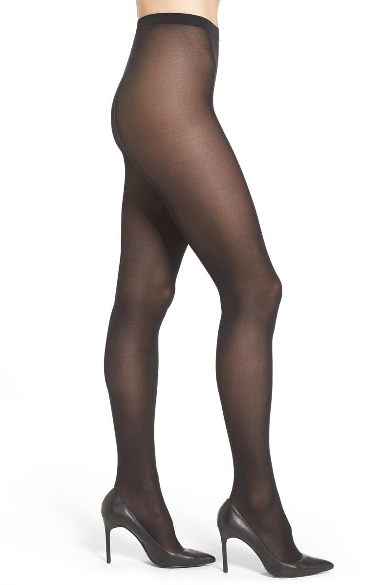 WOLFORD Velvet de Luxe Semi-Opaque Tights, Main, color, BLACK