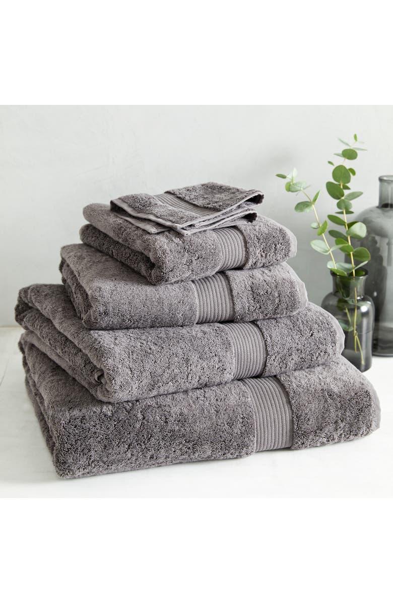 THE WHITE COMPANY Luxury Egyptian Cotton Super Jumbo Towel, Main, color, SLATE