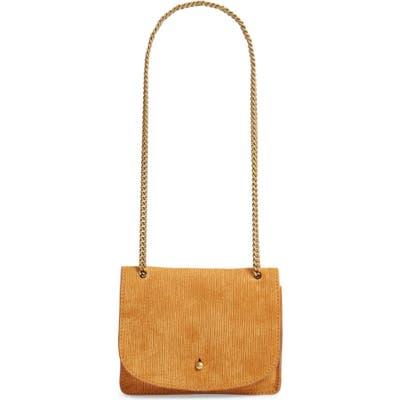 Madewell The Chain Corded Leather Crossbody Bag - Metallic