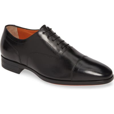Santoni Eamon Cap Toe Oxford, Black