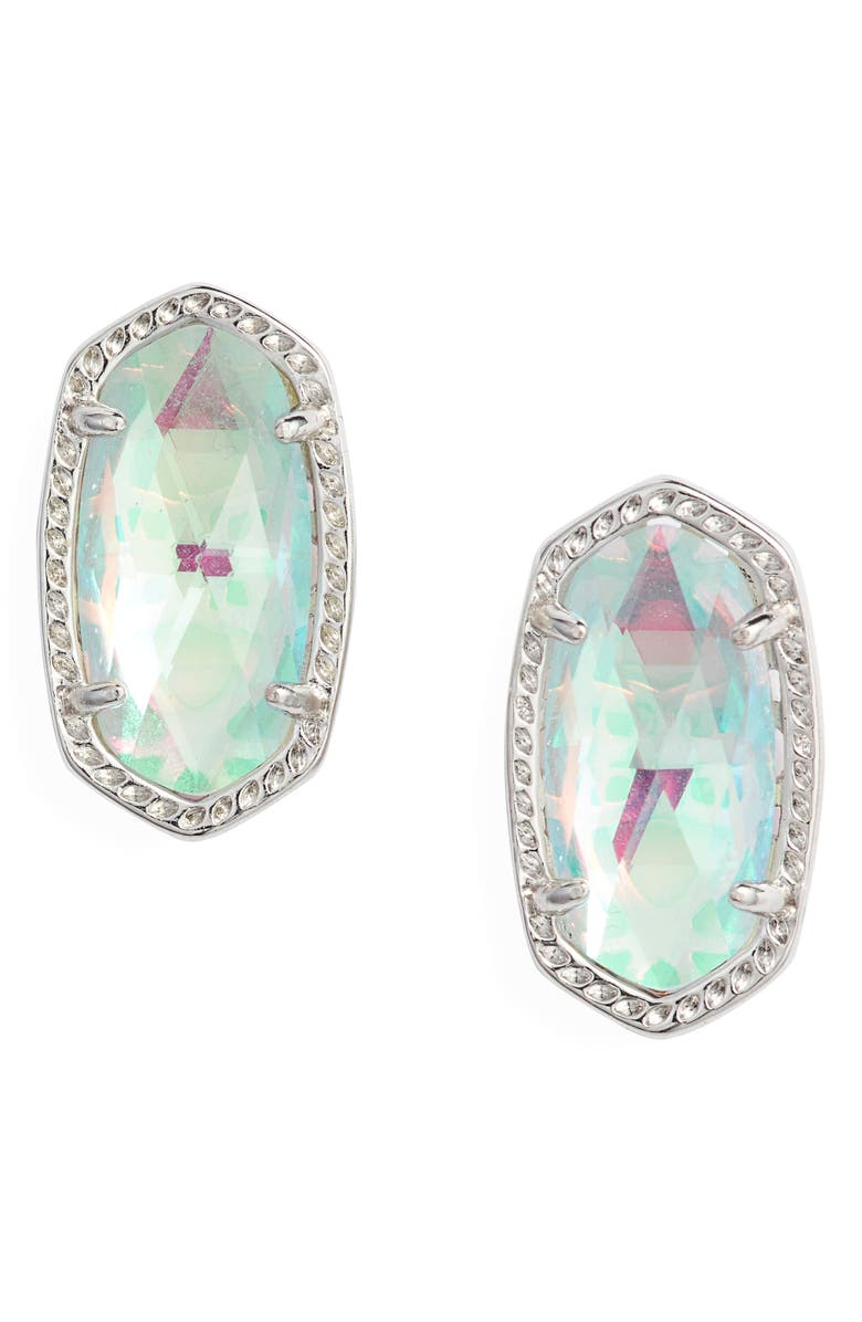 63c187ce1 Ellie Oval Stud Earrings, Main, color, RHODIUM DICHROIC GLASS