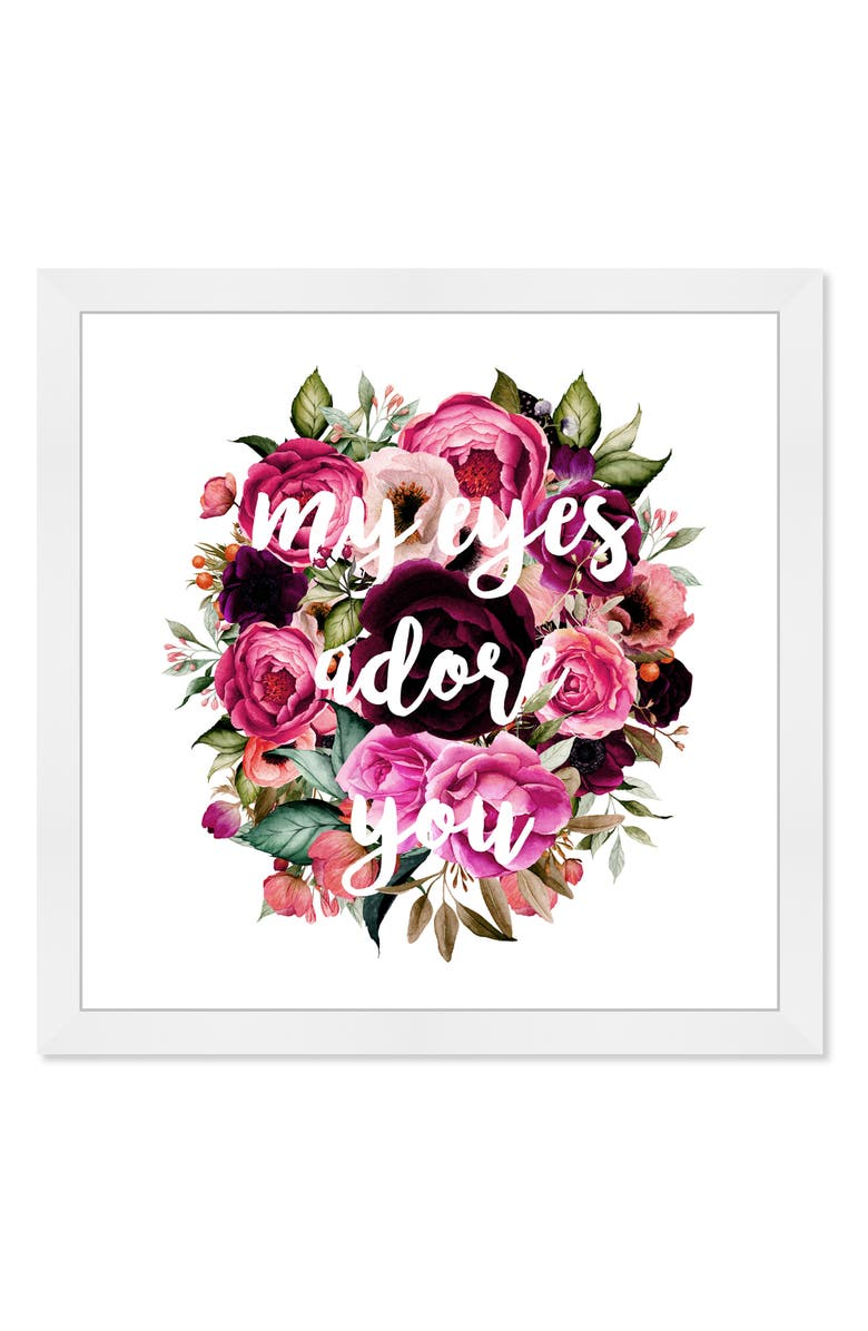 OLIVER GAL My Eyes Adore You Framed Wall Art, Main, color, PURPLE