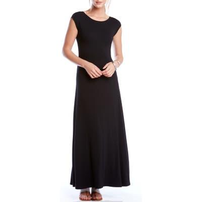 Karen Kane V-Back A-Line Maxi Dress, Black