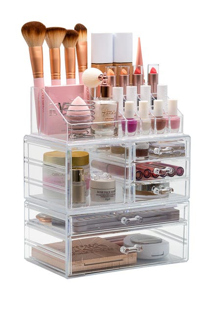 Image of Sorbus Clear Makeup & Jewelry Storage Case Display Set