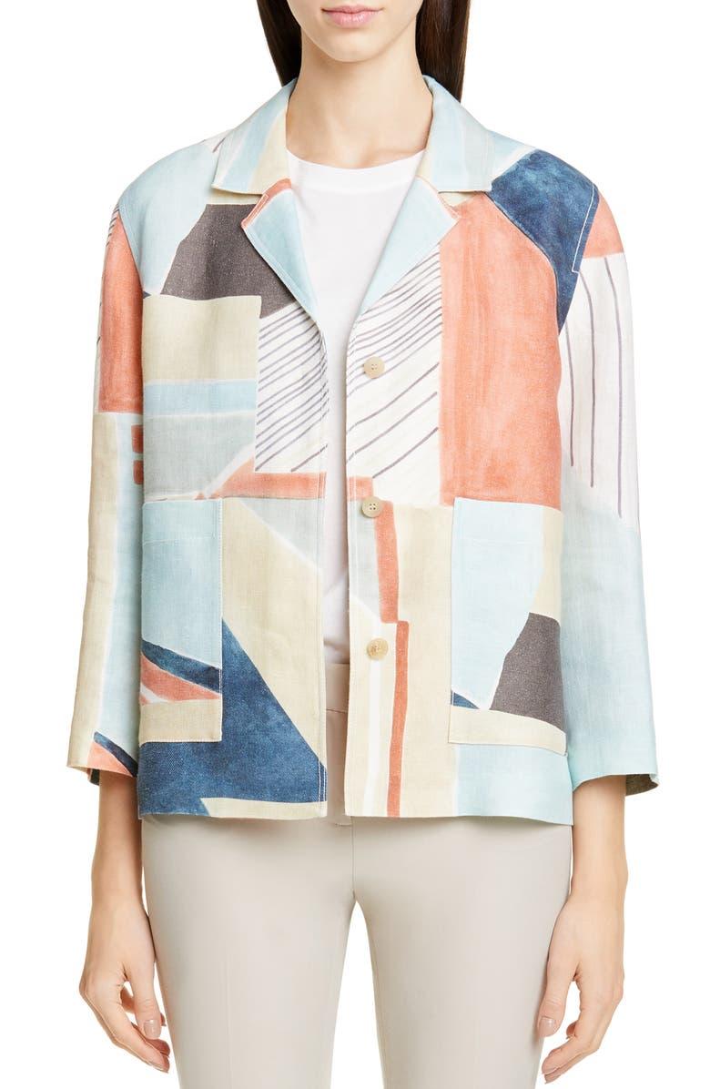 LAFAYETTE 148 NEW YORK Layken Linen Jacket, Main, color, 400