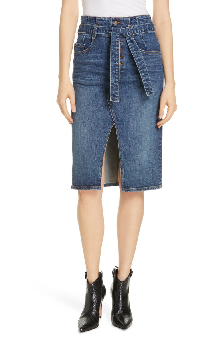 VERONICA BEARD Denton High Waist Denim Skirt, Main, color, ARCADE