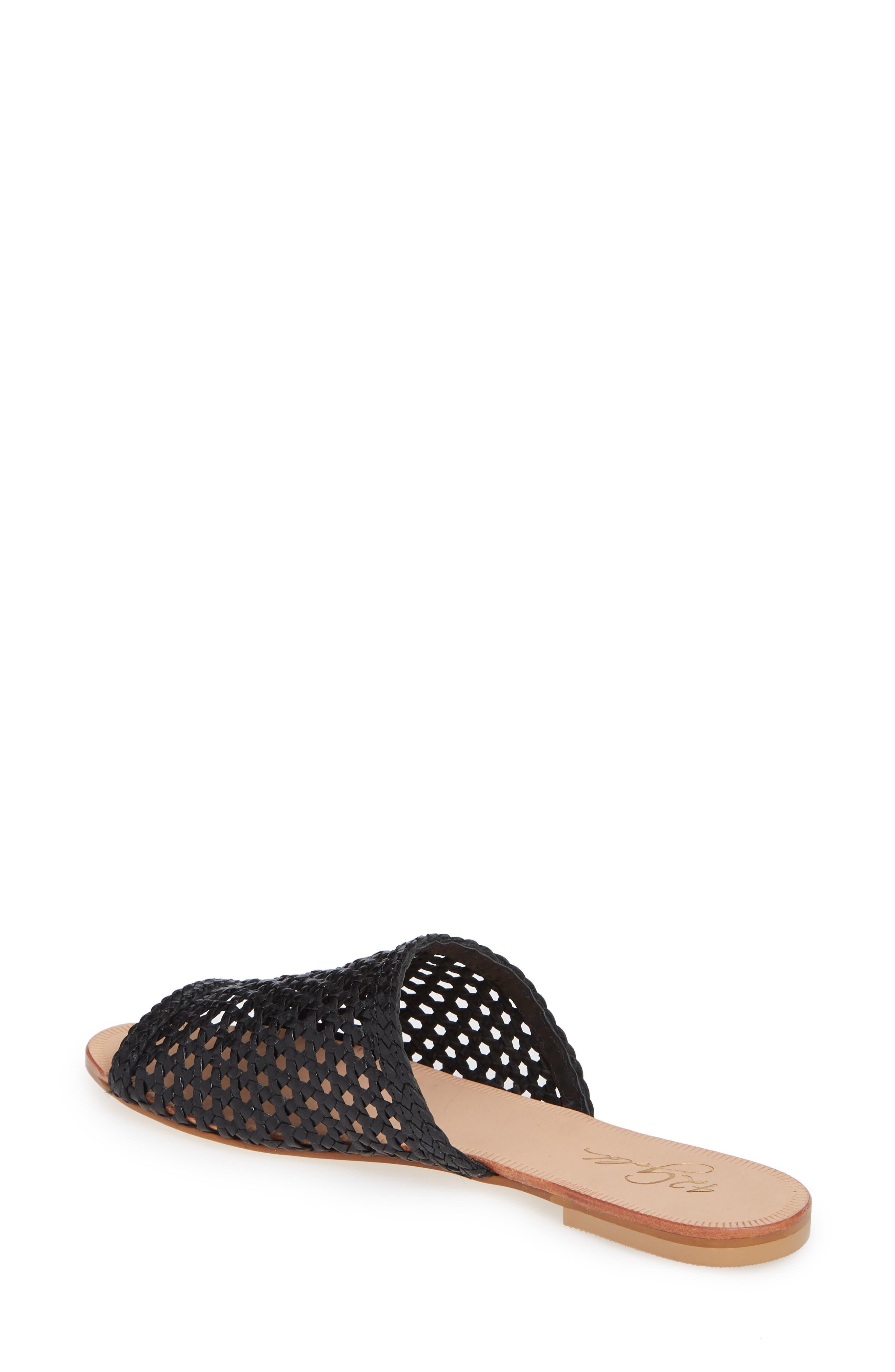 ,                             Begonia Slide Sandal (Women0,                             Alternate thumbnail 2, color,                             BLACK LEATHER
