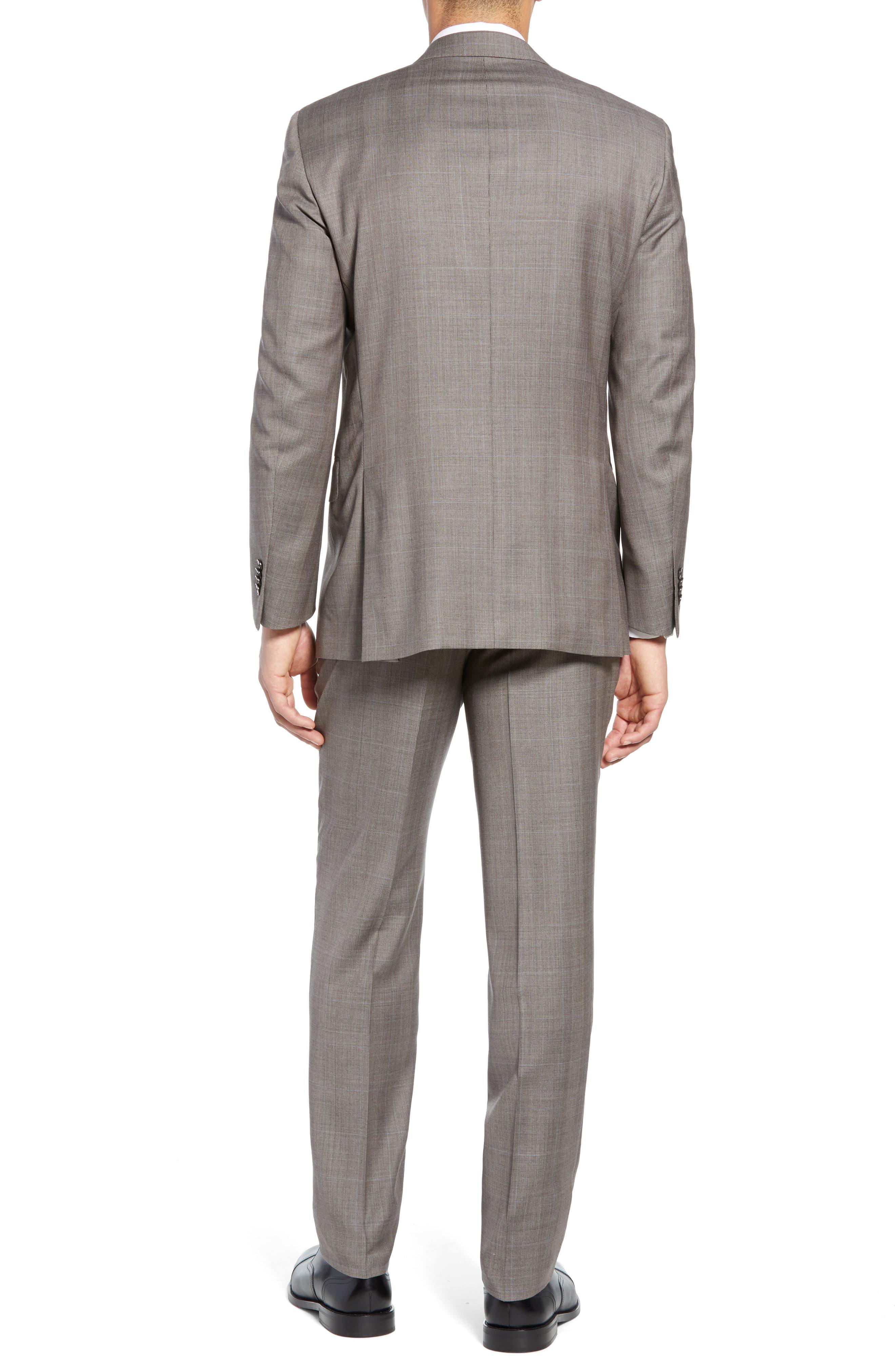 ,                             Flynn Classic Fit Windowpane Wool Suit,                             Alternate thumbnail 2, color,                             TAN