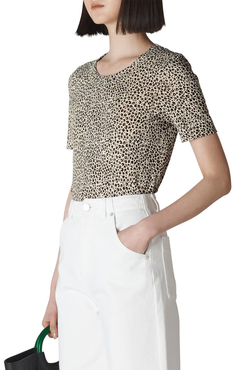 WHISTLES Double Trim Top, Main, color, ANIMAL PRINT