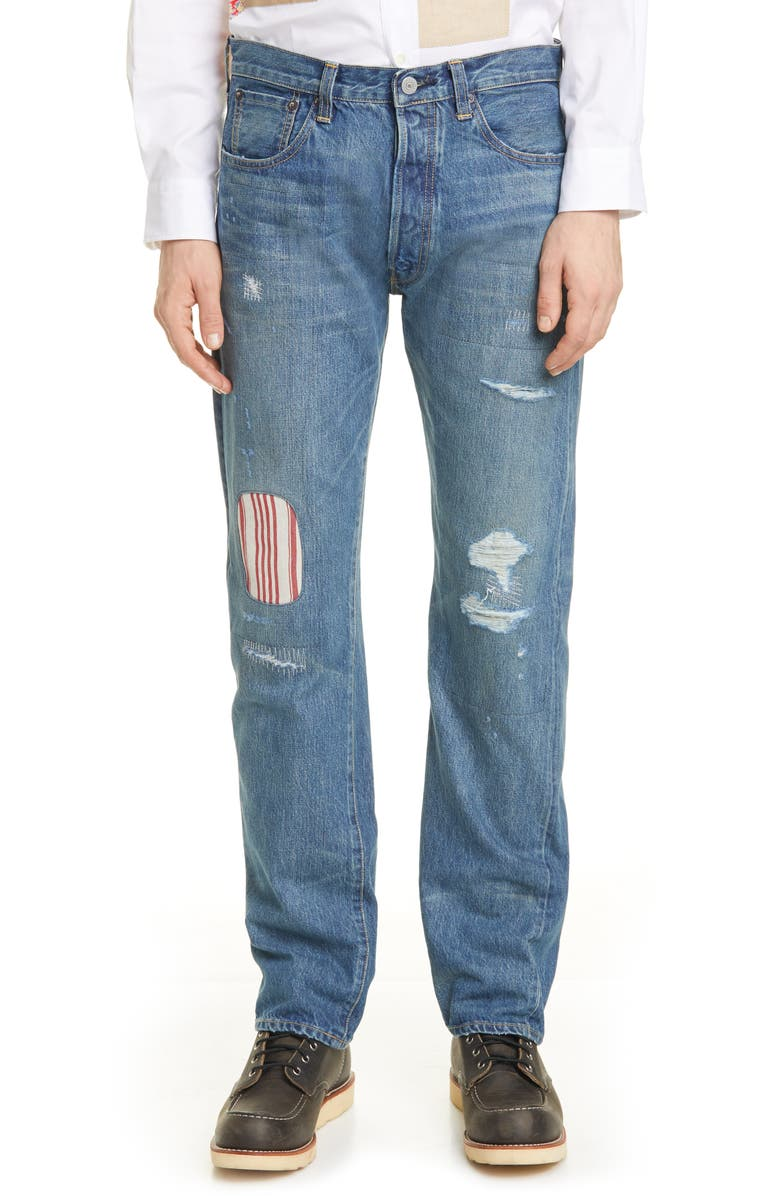 JUNYA WATANABE x Levi's<sup>®</sup> 501<sup>®</sup> Customized Jeans, Main, color, INDIGO