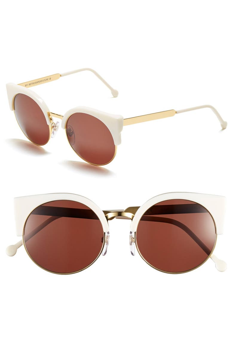 SUPER BY RETROSUPERFUTURE<SUP>®</SUP> 'Lucia' 53mm Sunglasses, Main, color, 100