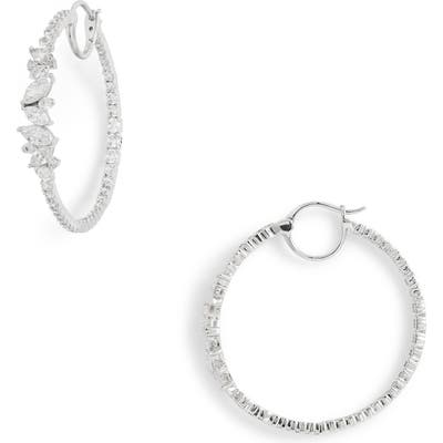 Nadri Tango Scattered Inside Out Hoop Earrings