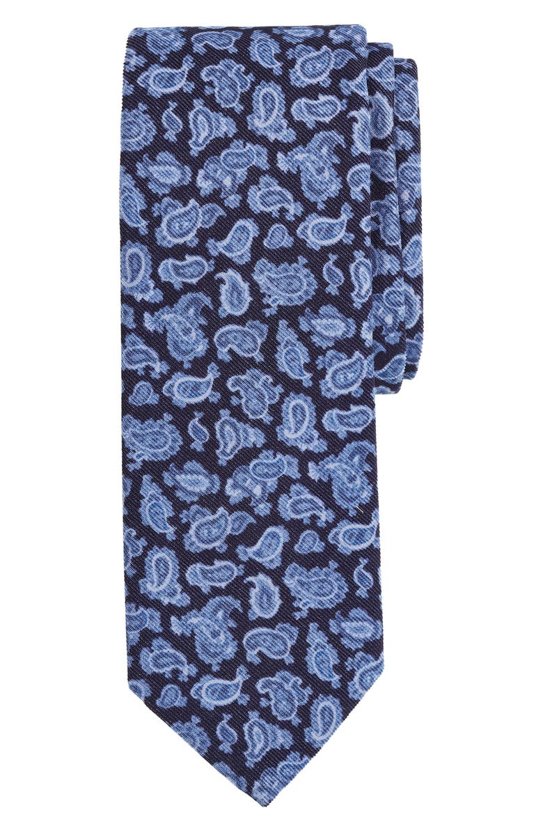 BROOKS BROTHERS Paisley Cotton X-Long Tie, Main, color, 411