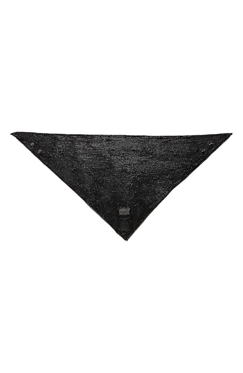 SAINT LAURENT Metal Mesh Scarf, Main, color, 001